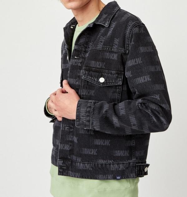 WoodWood Cam Denim Jacket Black