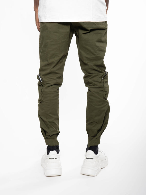 WHYAT Cargo Pants Front Pockets Green