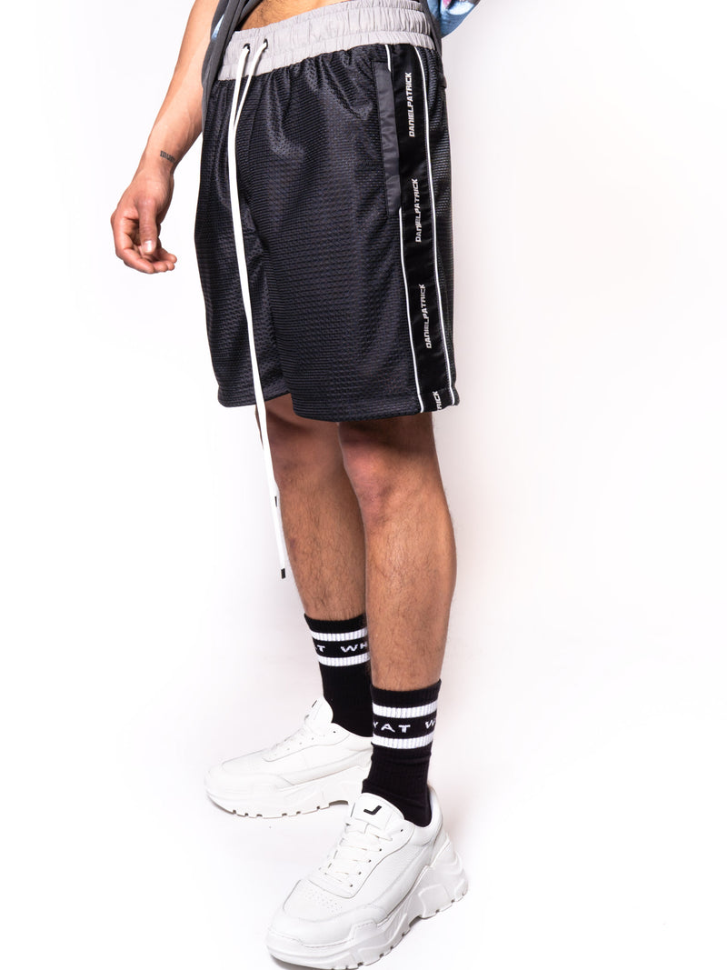 Daniel Patrick 3M Mesh Gym Short Black/Grey
