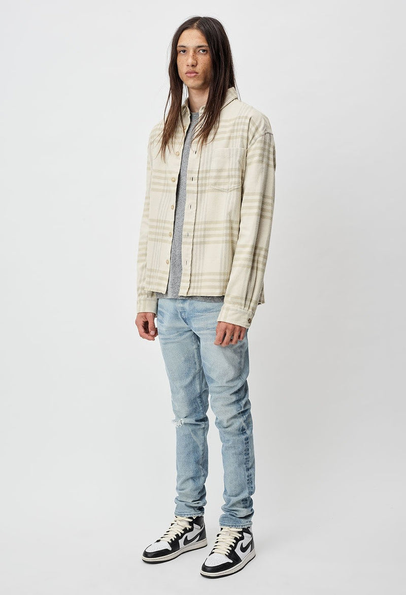 John Elliott Hemi Oversized Shirt -Cinder Check