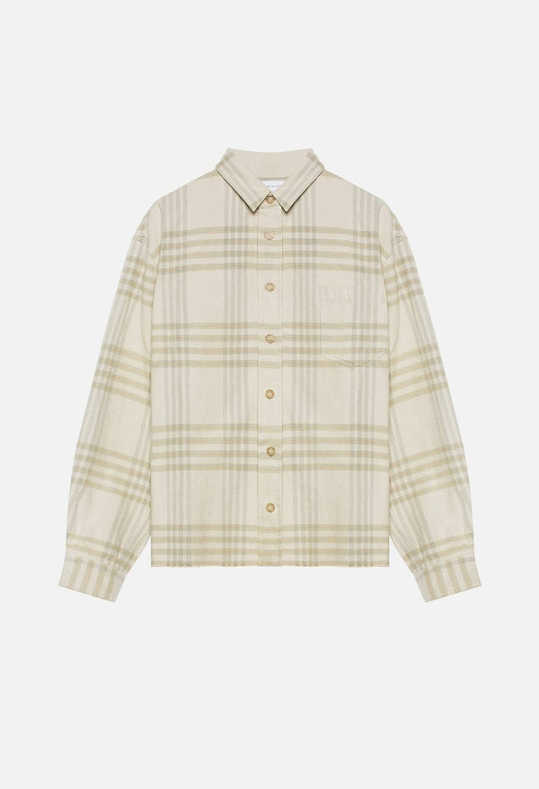 John Elliott flannel hemd in beige