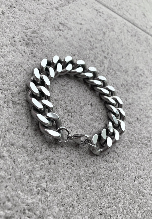 WHYAT Cuban Stainless Steel Bracelet XL