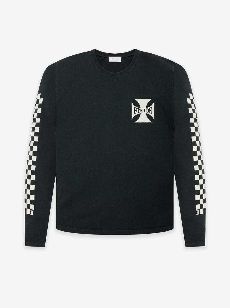 Rhude Long sleeve in vintage schwarz