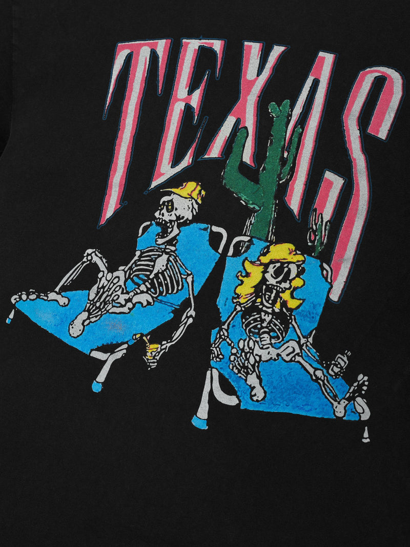 RHUDE Don't cry Texas Tee Black
