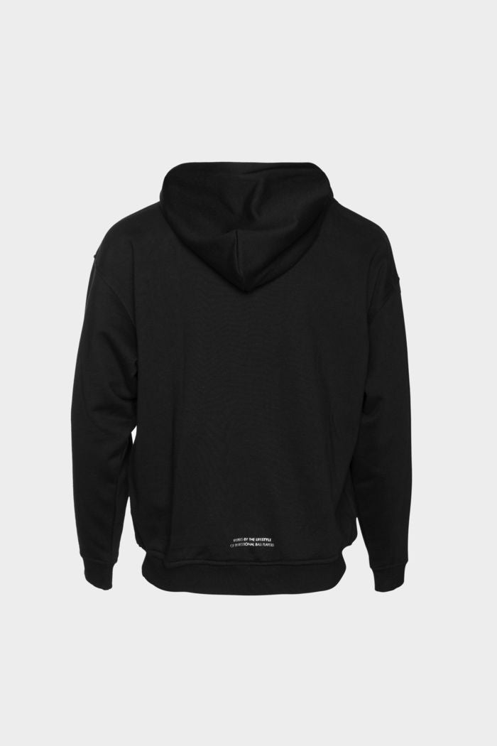 BALR. Bicycle Kick Loose Hoodie Black