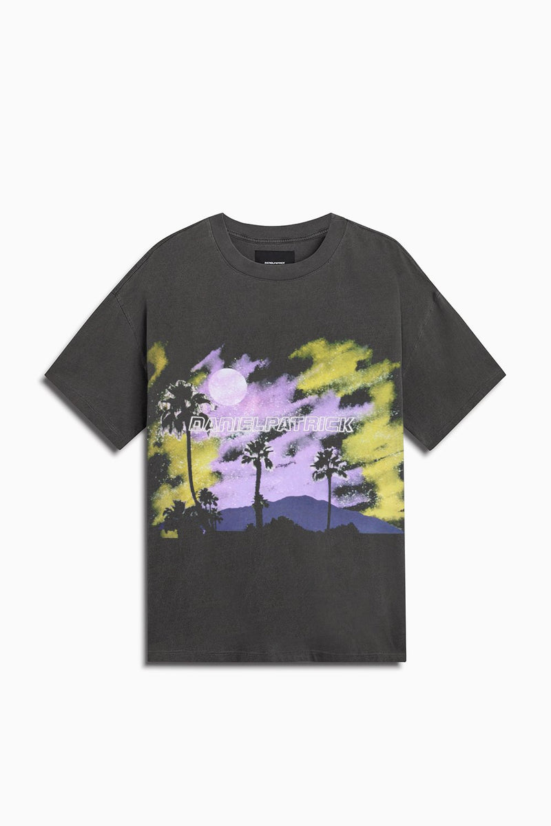Daniel Patrick Sunset Tee Vintage Black/Purple