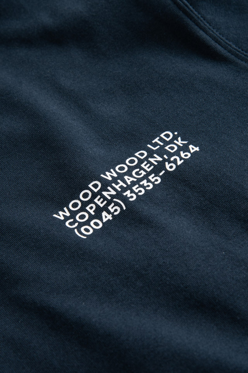 WoodWood Sami Info T-shirt Navy