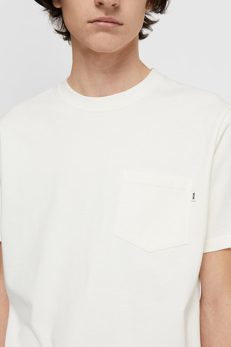 WoodWood Bobby Pocket T-shirt Vanilla White