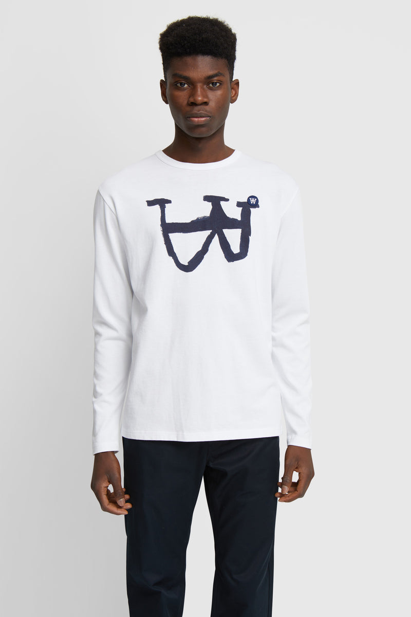 WoodWood Mel Grafic Long Sleeve White/Blue