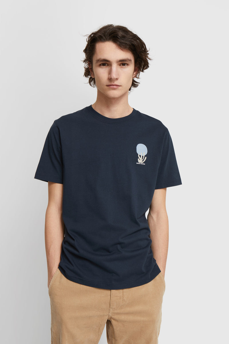 WoodWood Sami fruit T-shirt Navy