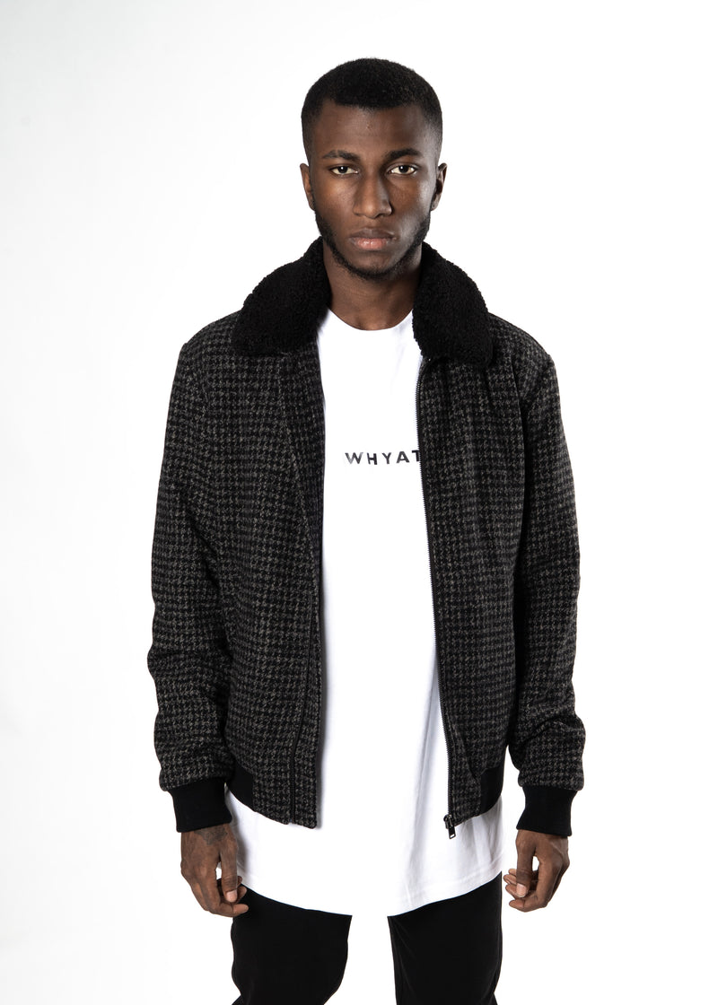 Selected Homme Checkered Jacket Grey