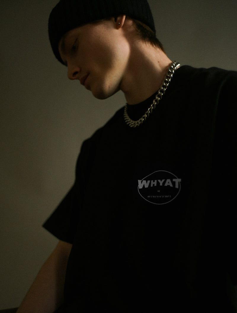 WHYAT Circle T-Shirt -black