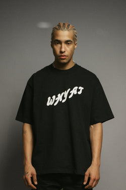 WHYAT-Logo T-Shirt -black