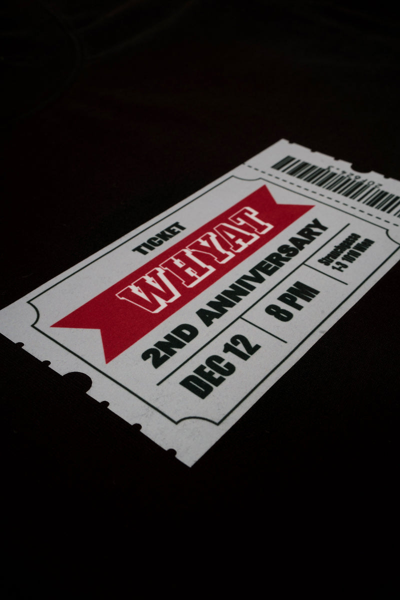 WHYAT-Ticket T-Shirt -black