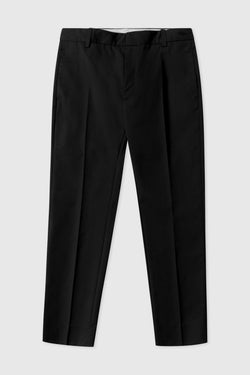 WoodWood Cropped workwear twill Hose in schwarz