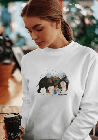 Water Color Elephant - Perfect Womens Sweater