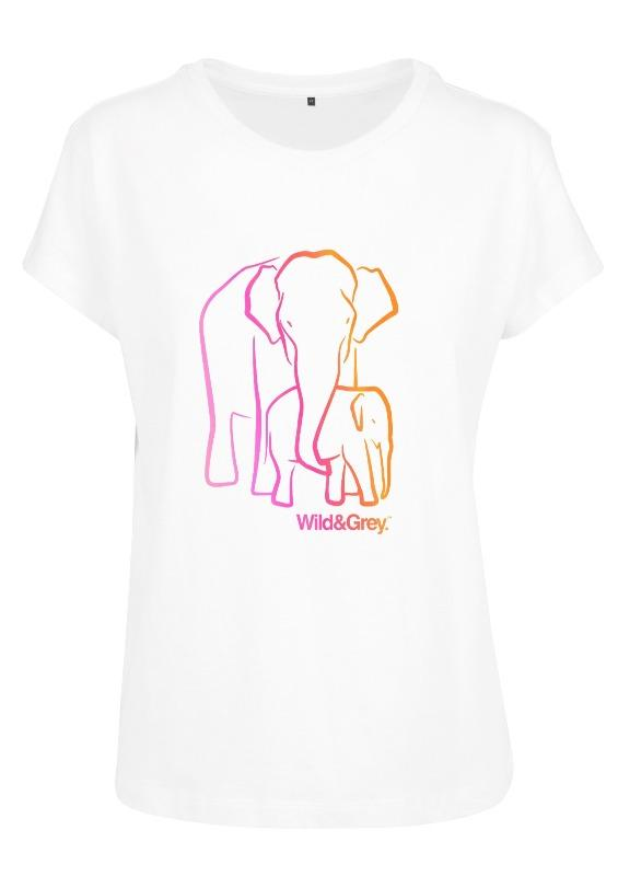 Mother Baby Elephant - Womens Perfect Tee