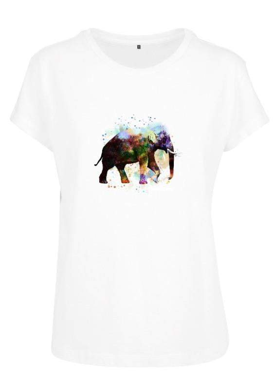 Water color Elephant - Womens Perfect Tee