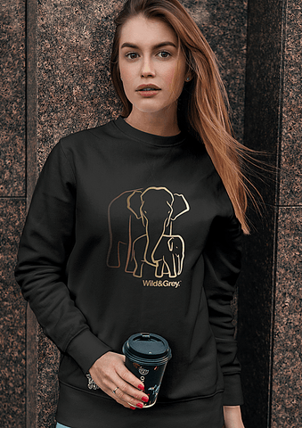 Mother Baby Elephant - Perfect Womens Sweater