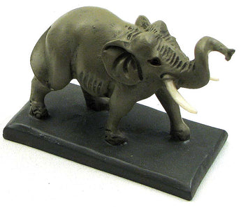 Male Elephant /w Tusks on Base - aomega-products