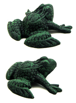 Cast Iron Dark Green & Black Frog Set of 4 - aomega-products
