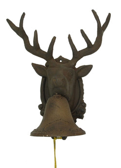 Large CAST IRON Deer Head Bell - aomega-products