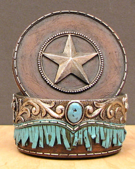 Trinket Box with Star on Lid - aomega-products