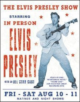 Tin Sign - Elvis Presley Show - aomega-products