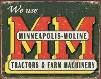 Tin Sign - Minneapolis Moline Tractors Logo - aomega-products