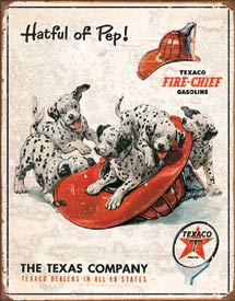 Tin Sign Texaco - Hat Full Of Pep - aomega-products