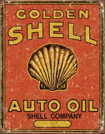 Tin Sign Shell Oil - aomega-products
