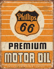 Tin Sign Phillips 66 Premium Oil - aomega-products