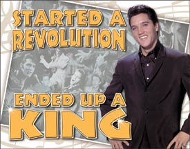 Tin Sign - Elvis - Ended Up King - aomega-products