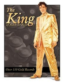 Tin Sign - Elvis - Gold Lame - aomega-products