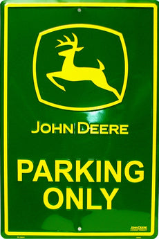 Tin Sign - John Deere  - Parking Only - aomega-products