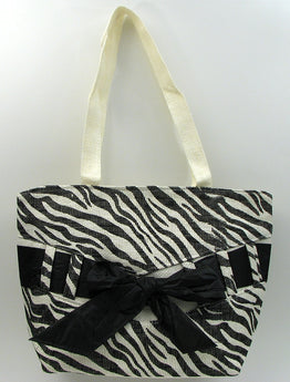 Zebra Print Straw Bag - aomega-products