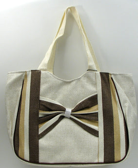 Brown Stripe Straw Bag - aomega-products