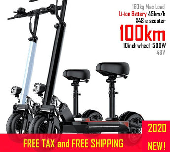 48V500W Long distance 100km Electric Scooter 10inch Motor Wheel Li Battery e scooter Adult kick folding patinete electrico M365
