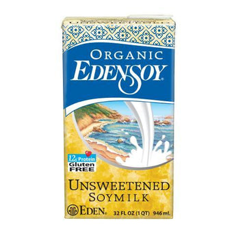 Eden Foods Unsweetened Edensoy (12x32 Oz) - aomega-products