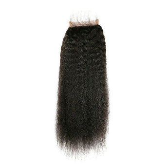 Brazilian Kinky Straight Closure - aomega-products