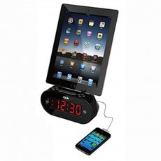Easy Dok Alarm Clock with Dual Charging Ports and Cradle