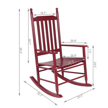 Wooden Rocking Chair Porch Rocker Modern - aomega-products