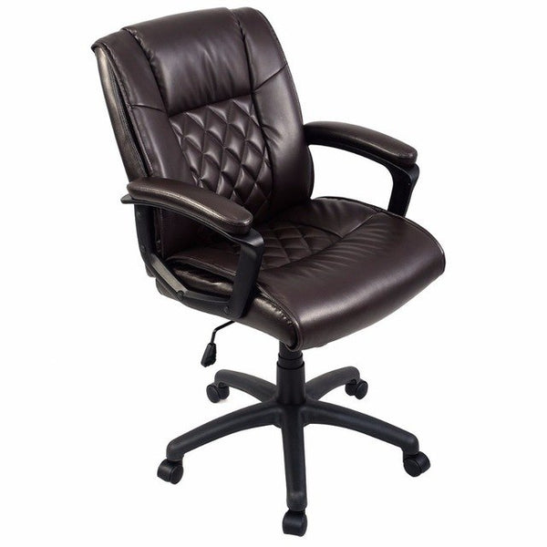Ergonomic PU Leather Mid-Back Executive - aomega-products