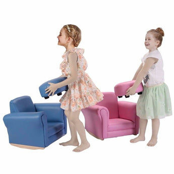 Kids Sofa With Footstool Armrest Chair - aomega-products