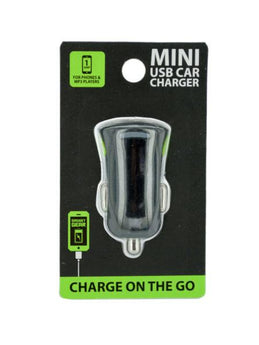 Single Port Mini Car Charger (Available in a pack of 24) - aomega-products