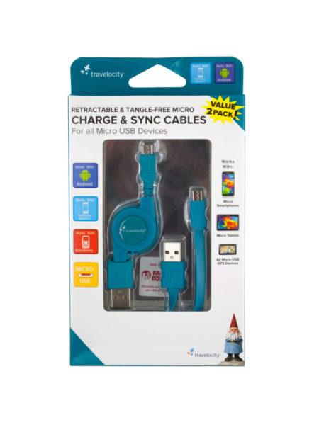 Travelocity Micro Charge & Sync Cables (Available in a pack of 8) - aomega-products