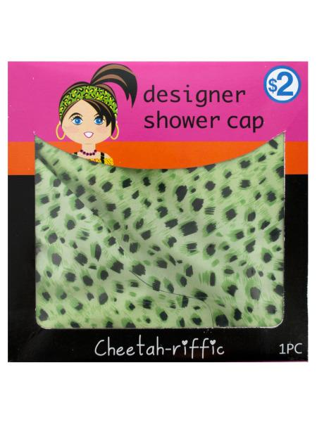 Cheetah Print Designer Shower Cap (Available in a pack of 20) - aomega-products