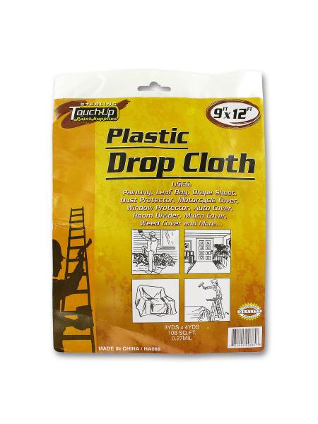 Plastic Drop Cloth (Available in a pack of 24) - aomega-products