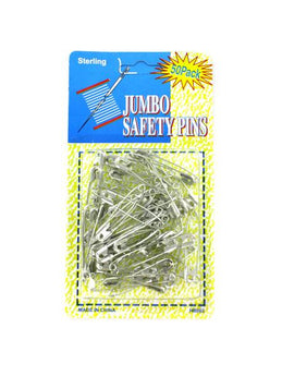 Jumbo Safety Pins (Available in a pack of 24) - aomega-products