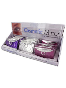 Purse Design Cosmetic Mirror Display (Available in a pack of 24) - aomega-products